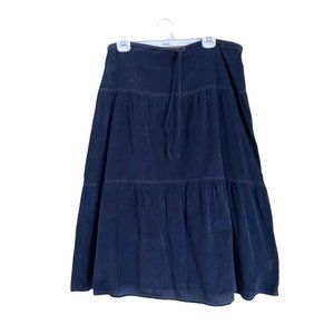 Solitaire Tiered Corduroy Skirt